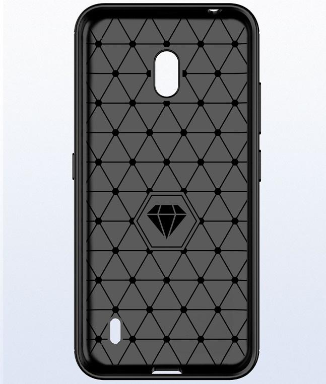 Чехол на Nokia 2.2 цвет Black (черный), серия Carbon от Caseport