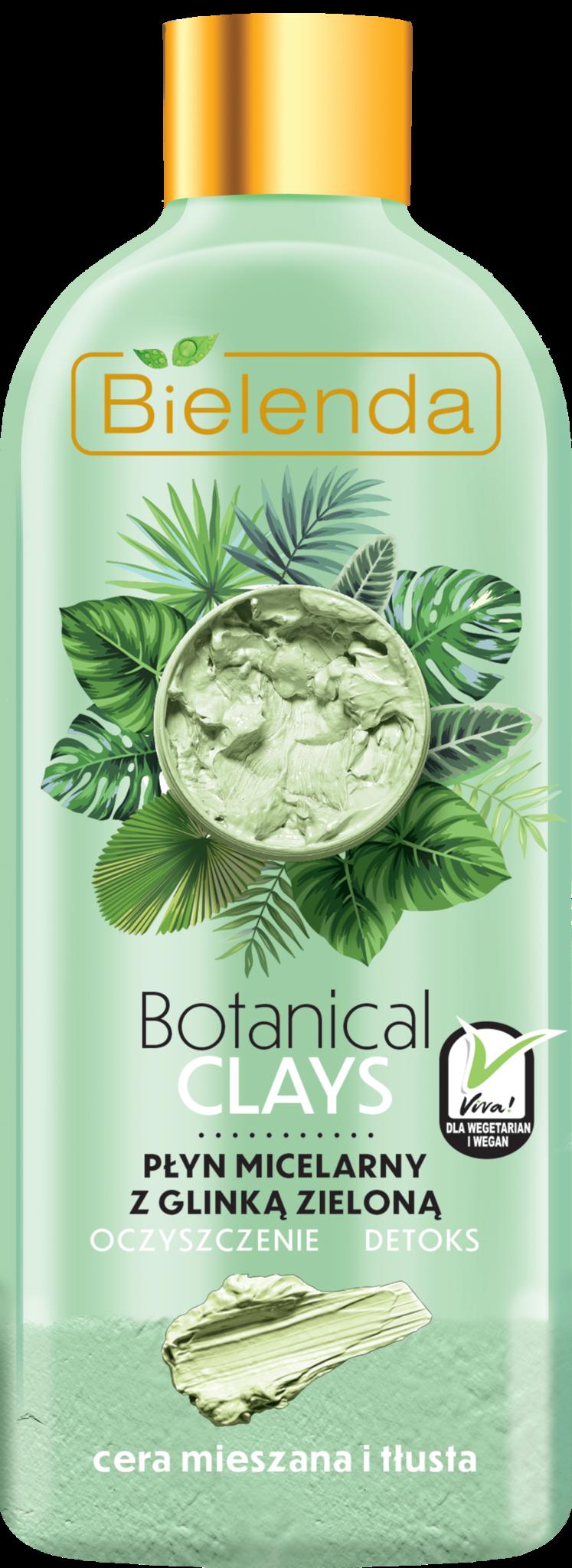 BOTANICAL CLAYS веганская мицеллярная вода с зелёной глиной 500 мл