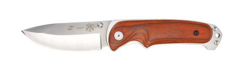 Нож Stinger, 91 мм, рукоять: сталь/дерево, серебр.-корич., картонная коробка