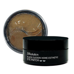 JMsolution Патчи с черным шелкопрядом  JMsolution Black Cocoon Home Esthetic Eye Patch 60 шт.
