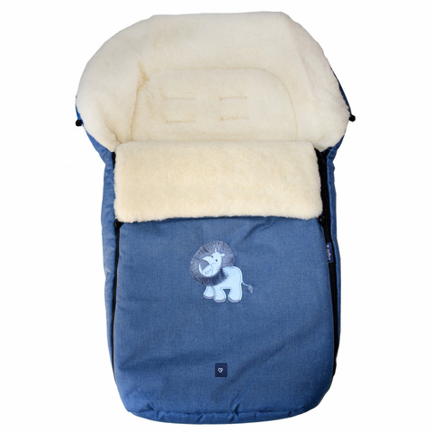 №S77 Exlusive Lion  melange fabric (синий)