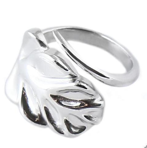 Серебряное разъемное кольцо Монстера