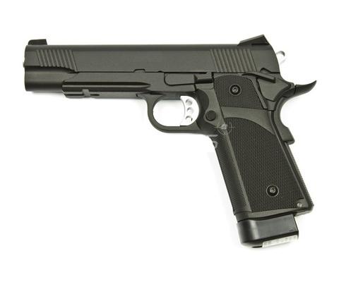 Страйкбольный пистолет Hi-Capa, грин-газ, чёрный (KJW)