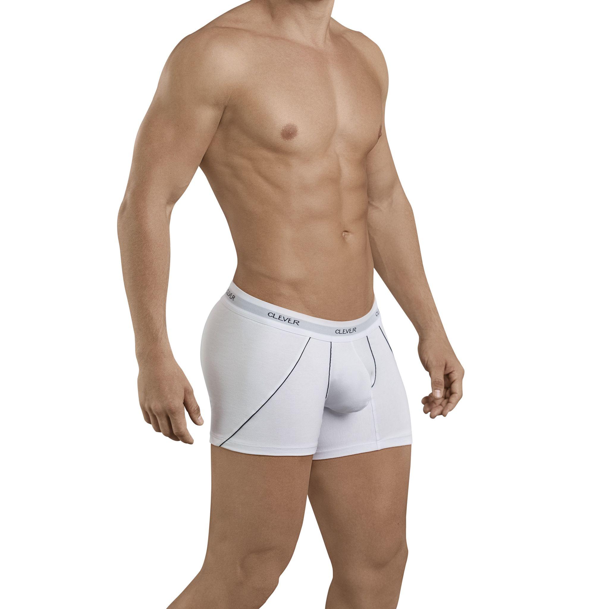 Мужские трусы боксеры белые Clever Stunning Boxer 239901