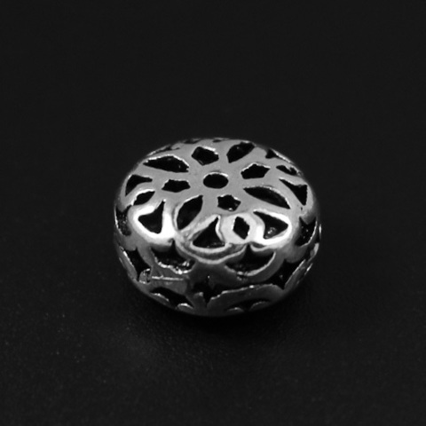 Бусина Арабика 10х6,4 мм серебро 925