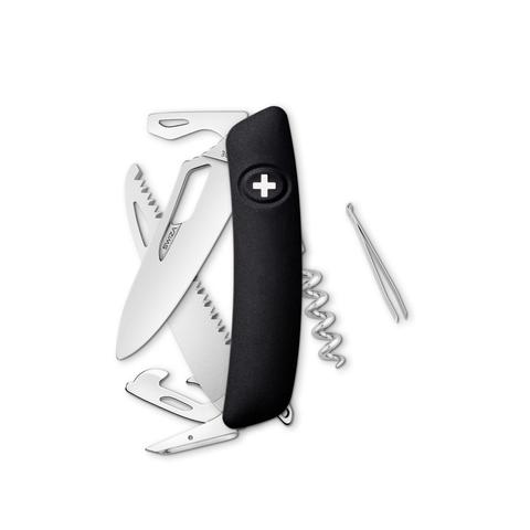 Швейцарский нож SWIZA SH05 R Standard, 95 мм, 13 функций, черный
