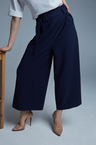 Костюм с широкими синими брюками интернет магазин