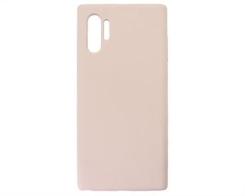 Чехол для Samsung (N975F) Galaxy Note 10+ Софт тач мягкий эффект | микрофибра розовый песок