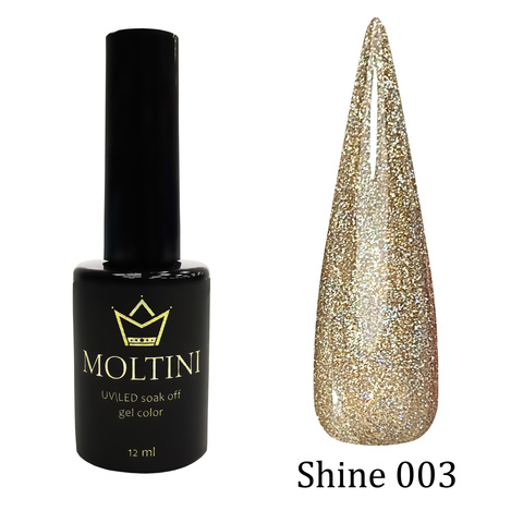 Гель-лак Moltini Shine 003, 12 ml