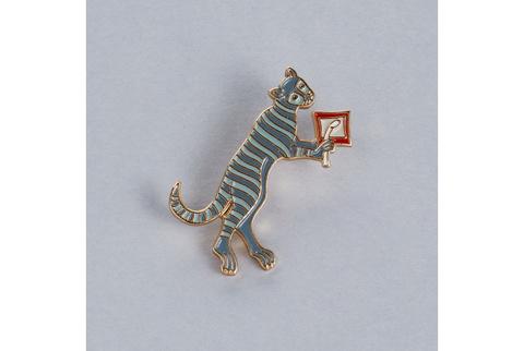 Значок эмалированный Кот