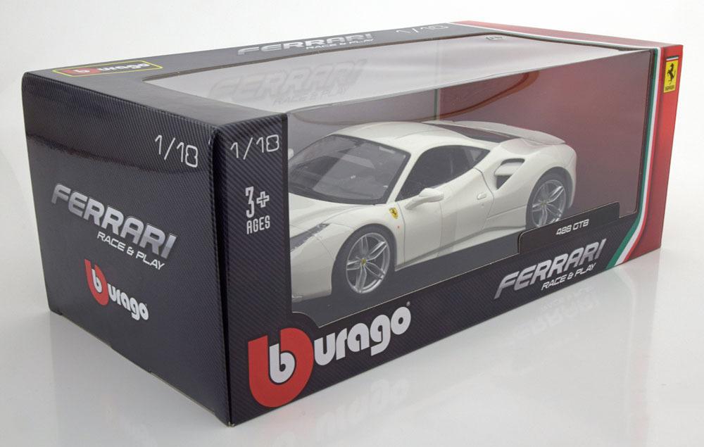 Коллекционная модель Ferrari 488 GTB 2015 White