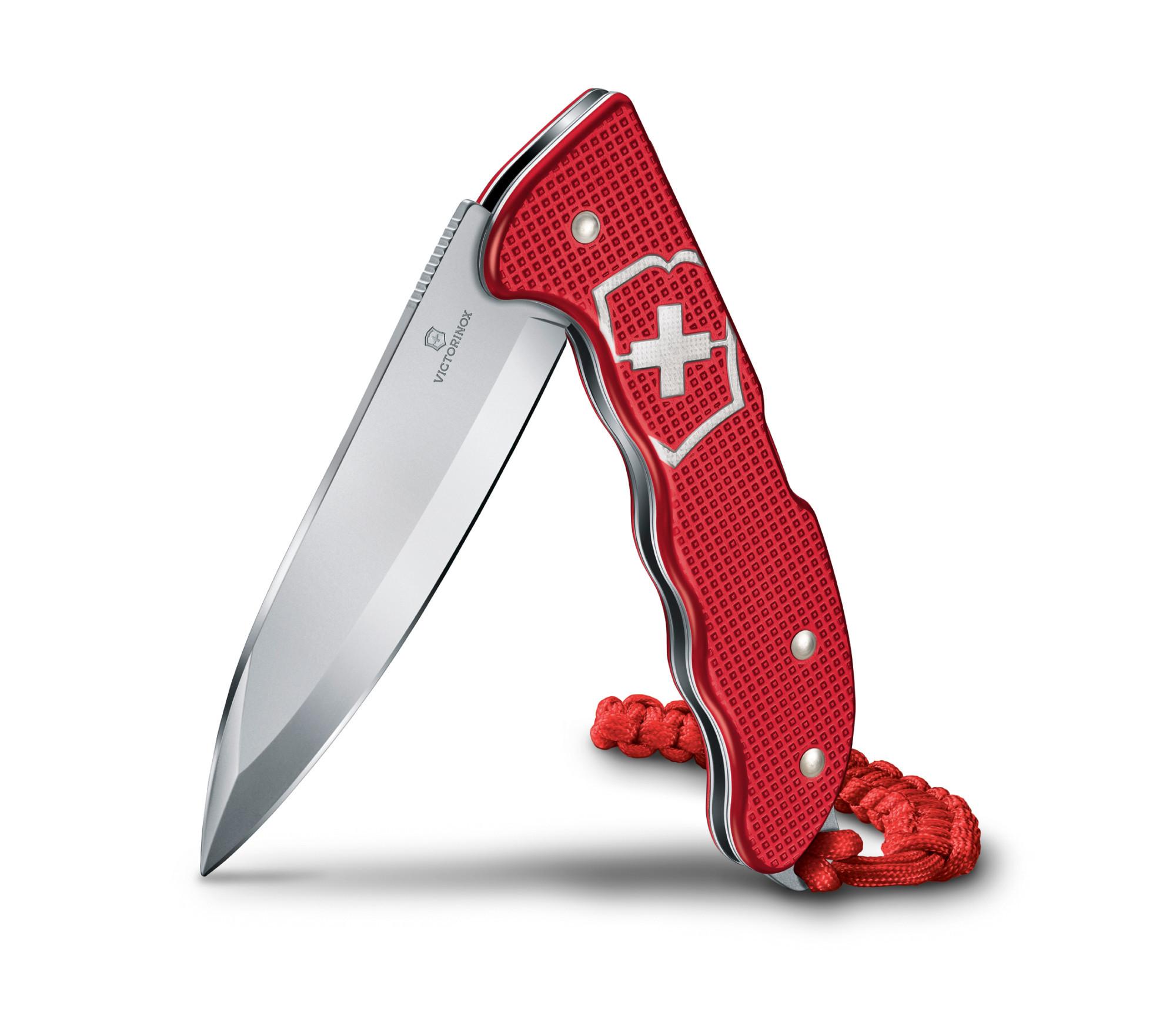 Складной швейцарский нож Victorinox Hunter Pro Alox Red, цвет красный (0.9415.20) - Wenger-Victorinox.Ru