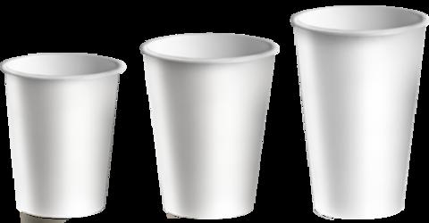 Стакан бумажный 1сл 350 (400) мл d=90мм  белый