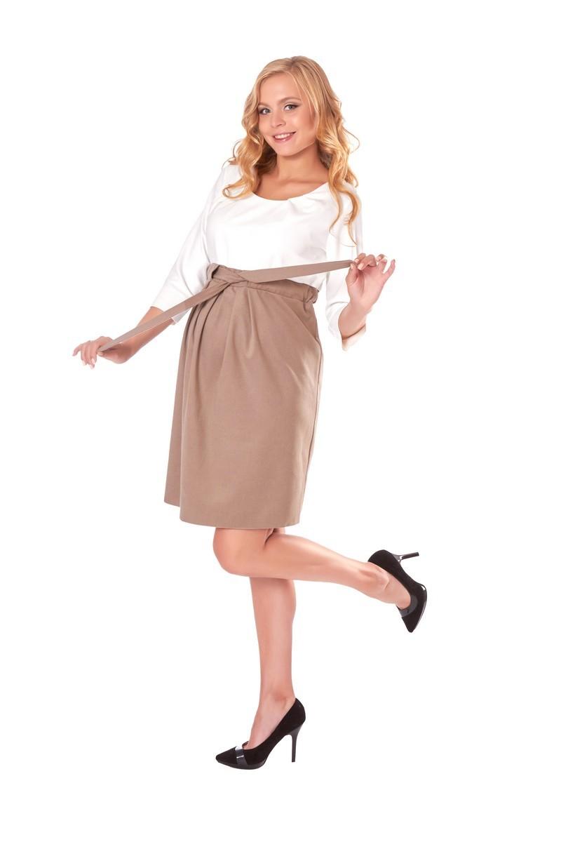 Платье для беременных 05709 белый-бежевый