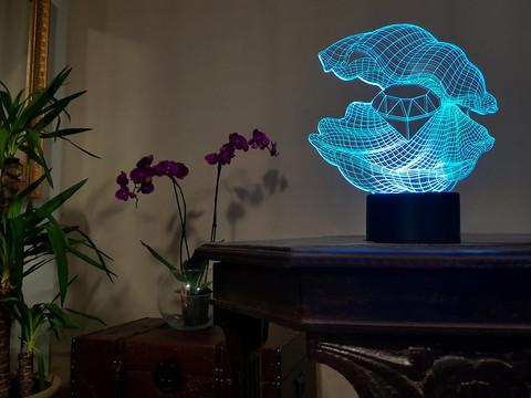 Лампа Ракушка с алмазом