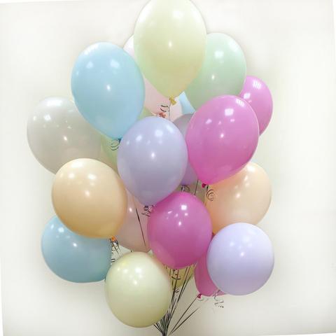 Воздушные шары макаруны с гелием ассорти