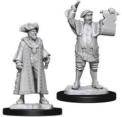 WizKids Deep Cuts Unpainted Miniatures - Mayor & Town Crier