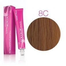 Matrix SOCOLOR.beauty: Copper 8C светлый блондин медный, краска стойкая для волос (перманентная), 90мл