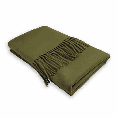 Шарф шерсть темно-зеленый