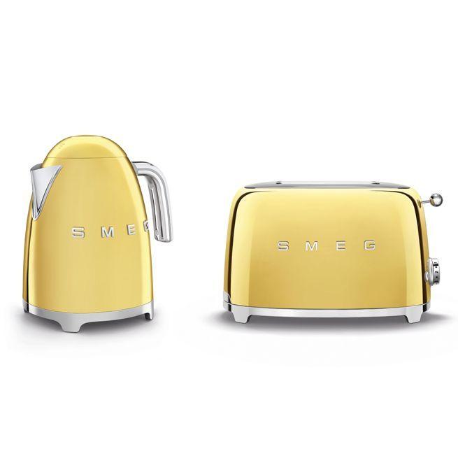 Товары Набор чайник и тостер Smeg Стиль 50х годов золотой preview-golden.jpg