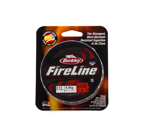 Плетеная леска Berkley Fireline Красная 110 м. 0,12 мм. 6,8 кг. Red (1308640)