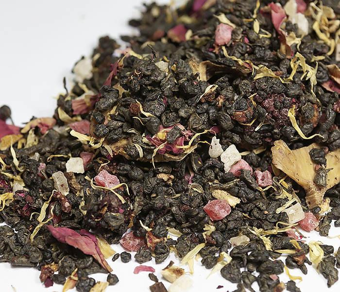 TEA-AR115 Зеленый ароматизированный чай «Король Джунглей», ганпаудер (50 гр) фото 03