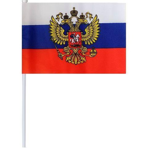 Флаг Россия с гербом 20*30 см