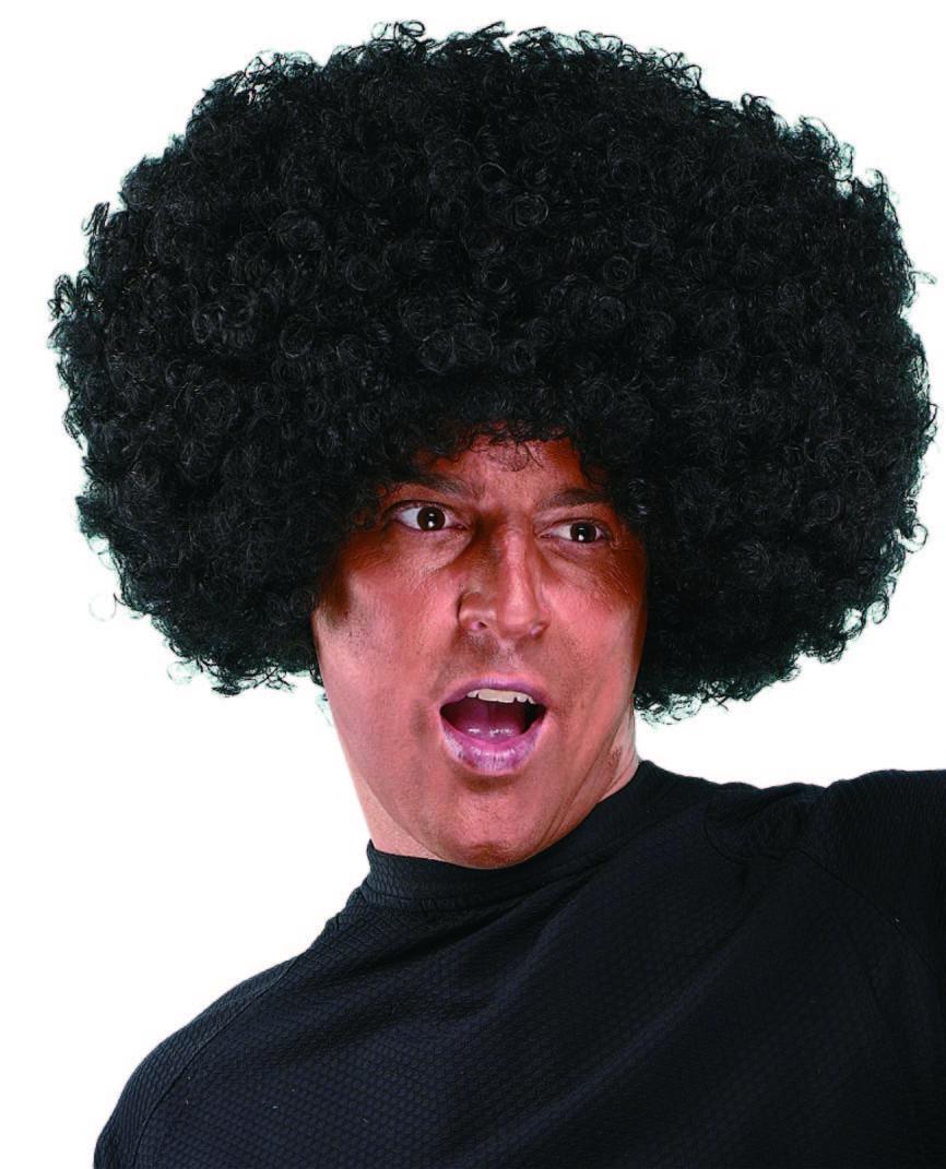 парик афро черный объемный