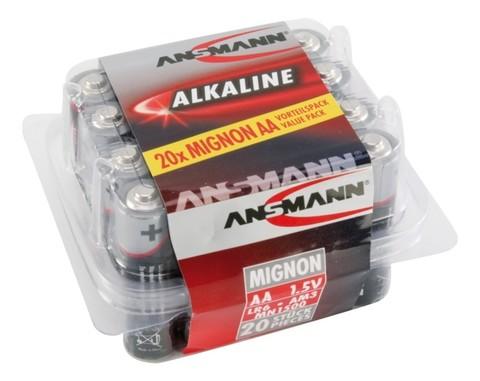 Батарейка Red АА/ANSMANN 1.5V - 20 шт в упаковке