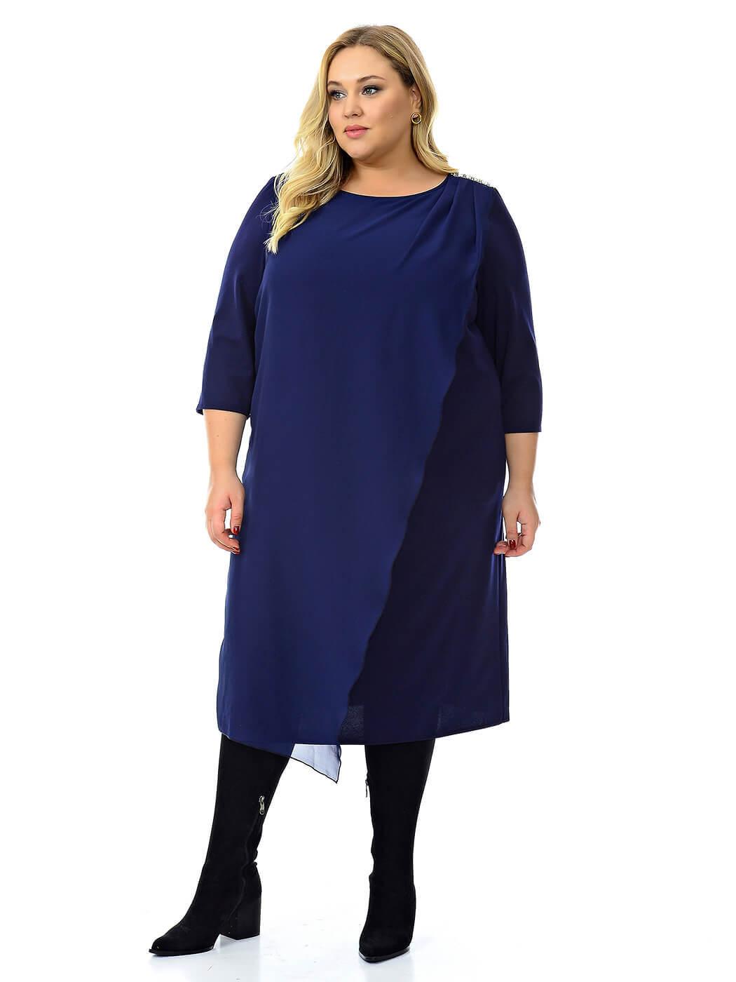 Синее нарядное платье 74 размера