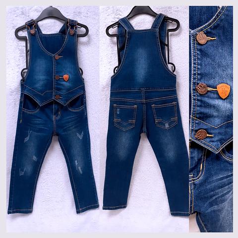 Комбинезон джинсовый девочке (3-4) 201223-DKB1073