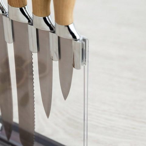 Набор кухонных ножей с акриловой подставкой Baobab 5шт.