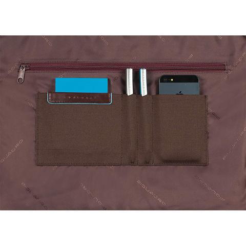 Сумка Piquadro Blue Square, коричневая, 29,5x40x3,5 см