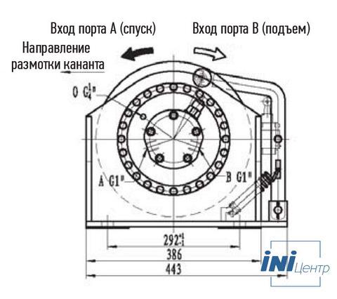 Лебедка свободного сброса IYJ2.5-10-60-10-L-ZPH2