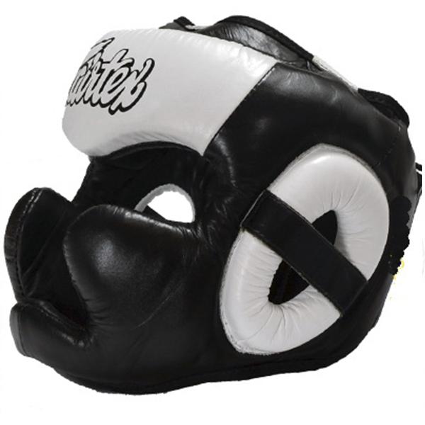Шлемы Шлем Fairtex Headguard Full Cover HG13F Black/White 1.jpeg