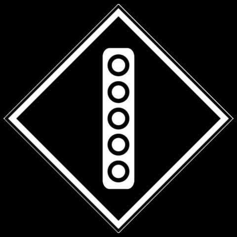 Железнодорожный постоянный сигнальный знак «Поднять токоприемник на электровозе»