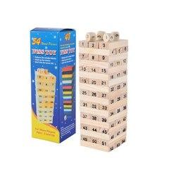 Jenga Stacko Stacking Games Tower 54pcs