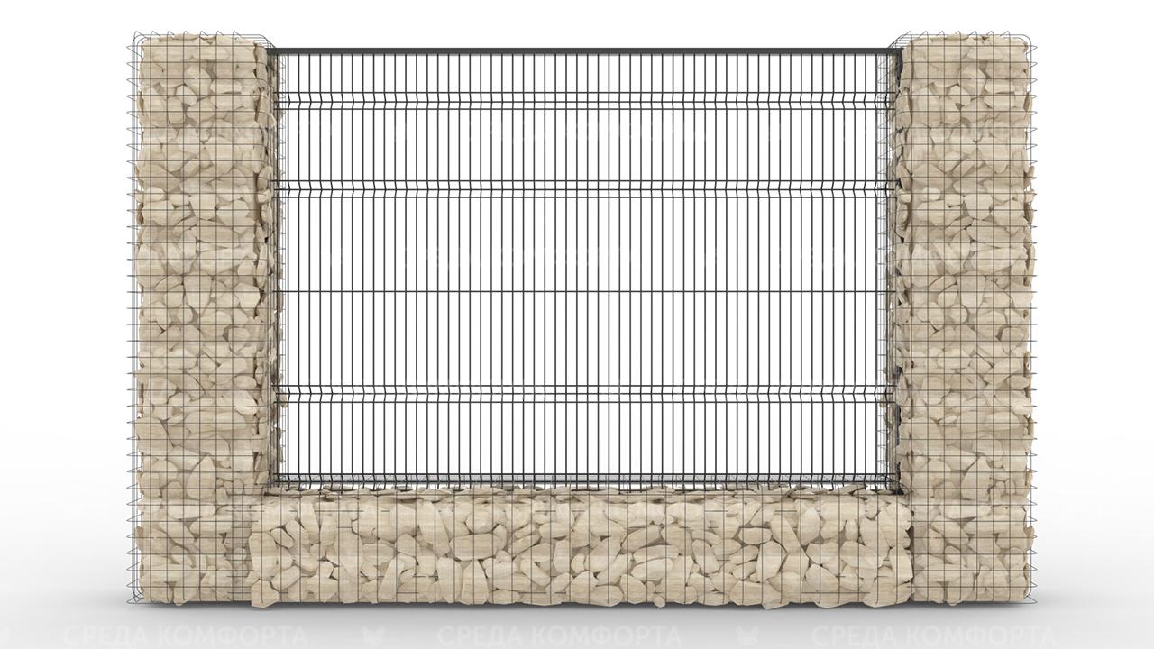 Забор 3Д ZBR0068