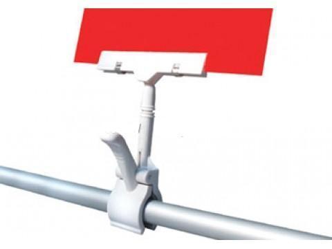 Держатель ценника на прищепке CLAMP-DBL, прозрачный