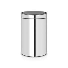 Мусорный бак Touch Bin New (40 л), Стальной полированный