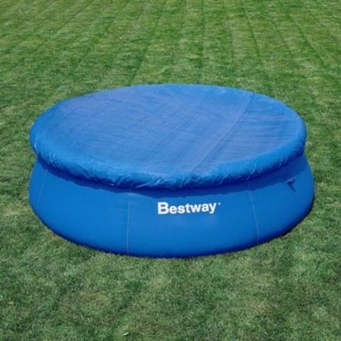 Тент для кругл.бассейна с надувн.бортом D244см,размер:280см 58032