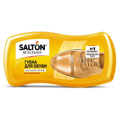 Губка для обуви Волна из гладкой кожи SALTON Бесцветный new262586064