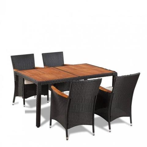 Комплект плетеной мебели AFM-460 150x90 Brown (4+1) МРК