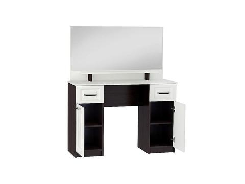 Стол макияжный Прага СТ-900 с зеркалом Браво Мебель венге, белый