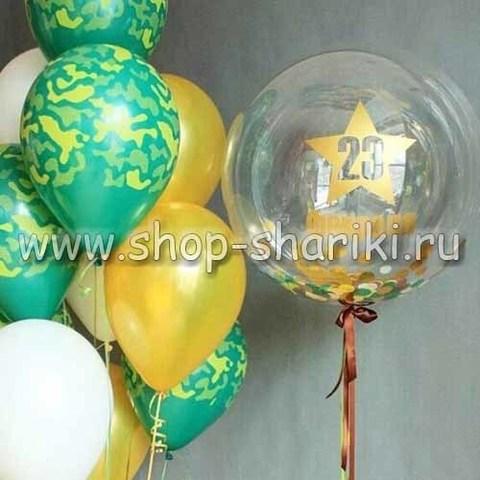 композиция из шаров на 23 февраля