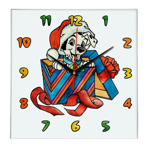 Часы раскраска для детей