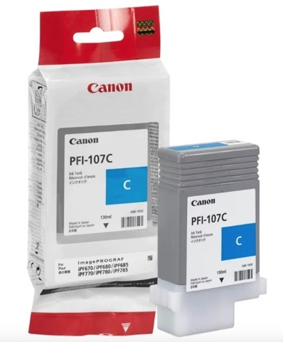 Картридж Canon PFI-107C 6706B001 голубой