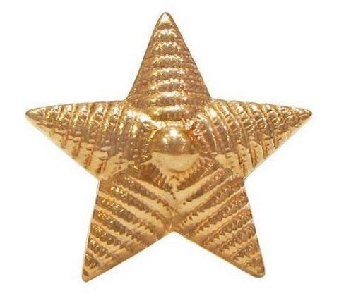 Звезда на погоны мет. 20 мм. риф. зол.