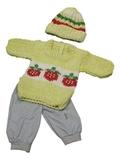 Вязаный комплект - Земляника. Одежда для кукол, пупсов и мягких игрушек.