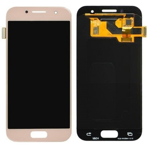 LCD SAMSUNG A3 2017 A320F + Touch Pink Orig MOQ:5